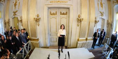 Sara Danius announces the Nobel Prize in Literature laureate.