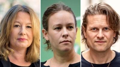 Porträttbilder på tre personer: Åsa Linderborg, Maria Wetterstrand och Mattias Svensson.