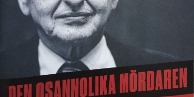 A book cover with a photograph of Olof Palme